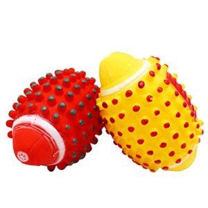 Emorias 1X Fournitures pour animaux mignons Animaux et jouets à double usage pour enfants Boule de chien de mode mignon avoir une voix