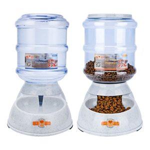 ePeTop Automatiques Distributeur de Nourriture et d'eau pour Chat et Chien 3.5L (Distributeur de Nourriture et d'eau)