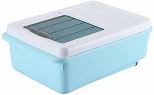 Étanche Pet Snack Box – Type de glissière seau grains – Alimentation Réservoir de stockage avec poulie for Pet Food et Cuisine de stockage à sec Conteneur alimentaire (Couleur: Bleu) Animal de compagn