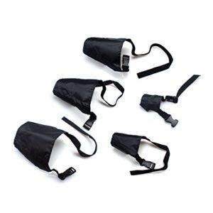 ewinever(R) Emballage de 5 sécurité respirante Petit moyen Large Extra Muzzle réglable noir