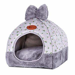 Ezoon Lit pour chat 2 en 1 pliable avec coussin amovible lavable et amovible