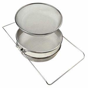 Farm & Ranch Bee outils en acier inoxydable double Miel filtre Passoire Tamis de miel Apiculture équipement