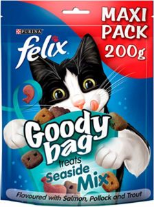 Felix Goody Bag Seaside Mix Friandises pour Chat, Lot de 5