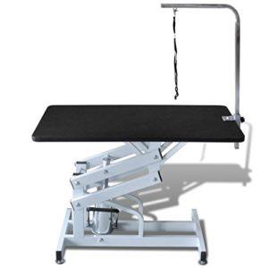 Festnight Table Toilettage Ajustable Hydraulique pour Chiens Capacité de Charge 60 kg