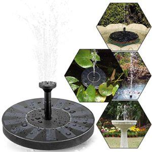 Fontaine solaire, tronisky Pompe à eau solaire Pompe flottante Eau Panneau solaire Jardin Arrosage Fontaine Piscine pour bassin ou jardin