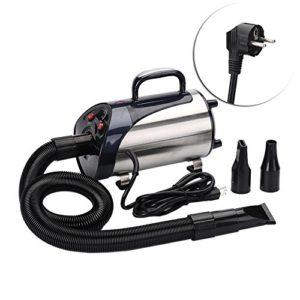 gaeruite 2800W Dog Pet Toilettage Sèche-Cheveux Sèche-Cheveux Professionnel Blaster Washer Heater, Sèche-Cheveux Silencieux Heater Blaster pour Chiens, Chats, 3 Buses