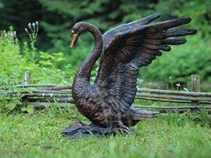 Gargouille Cygne Fonte, bronze
