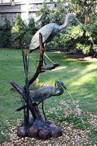 Gargouille en forme de héron, de fonte bronze