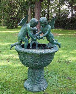 Gargouille fontaine avec 3 anges fonte de bronze