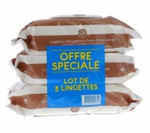 Gifrer Lingettes Nettoyantes à l'Huile d'Olive Vierge – Lot de 3 paquets de 70 Lingettes