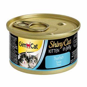 GimCat ShinyCat – Boîtes pour chatons en gelée – Avec des petits morceaux de thon – Lot de 24 x 70 g
