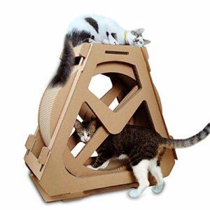 GSCshoe Ferris Roue Cat Scratch Plaque Ondulé Cat Escalade Cadre Nid Turning Ideas avec Chat Scratch Conseil Machine de Course