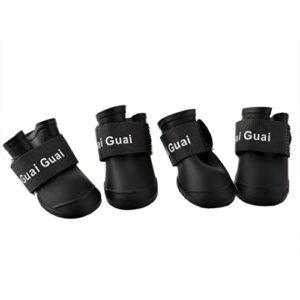 Hoomall Ensemble de 4 Pics Chaussures de Chien Bottes de Pluie Imperméable Protection