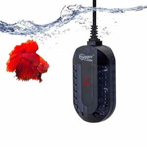 hygger Chauffage Aquarium, 50W/100W Mini Réglable Chauffage avec LED Numérique Contrôleur Externe Protecteur Anti-déflagrant pour Tortue Betta Petit Aquarium (1-50 litres) (100W, 25-50 litres)