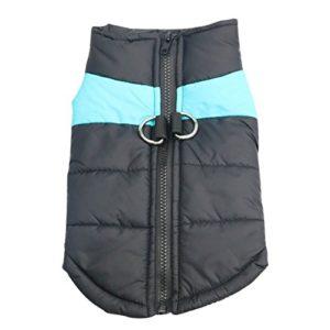 Idepet Manteau d'hiver pour Chien Vêtements Imperméables pour Petit Moyen Grand Chien Chat Taille S L L XL XXL 3XL 4XL 5XL (XL, Bleu)