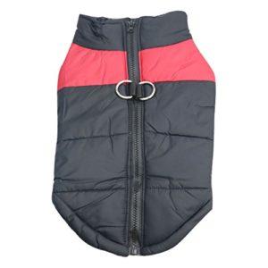 Idepet Manteau d'hiver pour Chien Vêtements Imperméables pour Petit Moyen Grand Chien Chat Taille S L L XL XXL 3XL 4XL 5XL (XXL, Rouge)