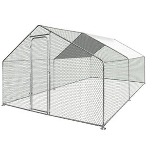 IDMarket – Enclos poulailler 12 m² Parc grillagé 4x3m Acier galvanisé