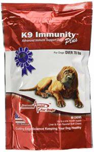 Immunité K9 Plus avec / Transfer Factor – Chiens de plus de 70 Lbs