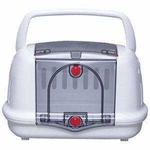 Iris Ohyama, Caisse de transport pour petit animal de compagnie – Pet Carrier and House – P-HC480, plastique, blanc, 48 × 32,1 × 30 cm