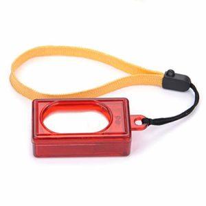 JIUY Chien Chat Cliquez Clicker Dressage Agilité Formateur Aide d'oiseaux à ultrasons Sifflet Commandant Fournitures d'accessoires (Rouge)