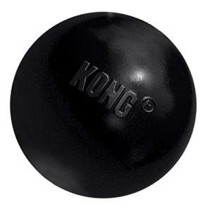 KONG – Extreme Ball – Jouet en caoutchouc pour mâchoires puissantes, noir – Petits chiens