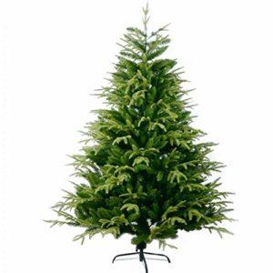 LEZDPP Décorations de Noël 1,8 M 1,5 M Grand Paquet Arbre de Noël Arbre sans Feuillage PE + PVC Ornement (Size : 210cm)