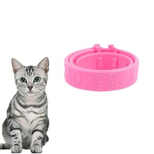 Luwu-Store Chats Doux en Silicone Animaux de Compagnie Chats Collier Anti-puces Chats rejeter tiques poux tétranyques Collier Chaton Collier Chat