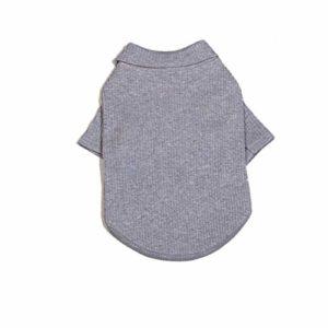 LWLEI Chemise De Chien De Mode Doux Vêtements for Animaux Vêtements Costume for Les Petites Chiens Moyens Animal (Couleur : Gris, Taille : S)