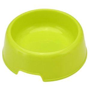 Mackur en plastique dur anti-dérapant pour aliments pour animaux de compagnie bol de vaisselle bol alimentation en eau fournit 13.8 * 12 * 4.2cm Vert 1 Pièce