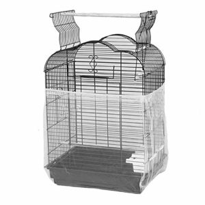 MC.PIG Housse Universelle pour Cage à Oiseaux avec Filet en Nylon pour Perroquet Blanc