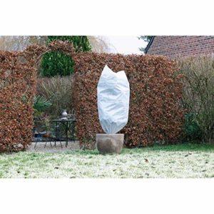 Nature Housse d'hivernage 50 g/m² – Ø100 cm x 1,50m – Blanc
