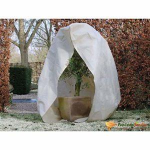 NATURE Housse d'hivernage 70 g/m² – Ø150 cm x 2 m – Beige