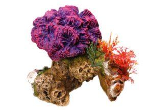 Nobby Pierre de Corail avec Plantes Décoration pour Aquarium 13 x 10 x 12 cm