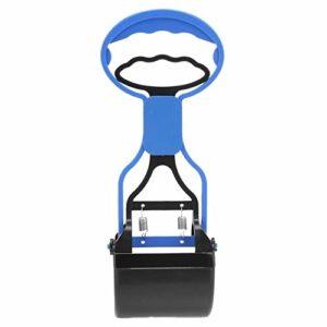 nobrand Pet Care IBHT Longue poignée Jaw Scoop Clean Merde Pick Up déchets Animaux Chien Chiot Chat chiffonniers (Violet) 1 (Color : Blue)