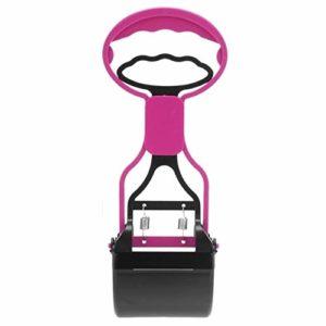 nobrand Pet Care IBHT Longue poignée Jaw Scoop Clean Merde Pick Up déchets Animaux Chien Chiot Chat chiffonniers (Violet) 1 (Color : Pink)