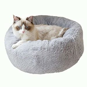 Ohhope Nid rond en peluche pour chat