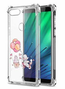 Oihxse Crystal Coque pour Xiaomi Mi CC9 Pro/Redmi Note 10/10Pro Transparent Silicone TPU Etui Air Cushion Coin avec Motif [Elephant Lapin] Housse Antichoc Protection Bumper Cover (A13)