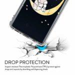 Oihxse Crystal Coque pour Xiaomi Redmi 8A/Xiaomi Redmi 8 Transparent Silicone TPU Etui Air Cushion Coin avec Motif [Elephant Lapin] Housse Antichoc Protection Bumper Cover (A11)