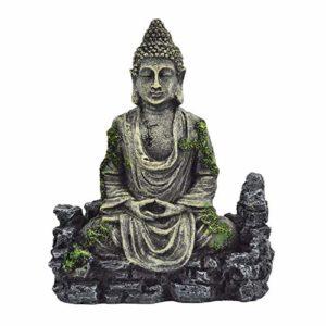 OMEM Décorations pour Aquarium Statue de Bouddha