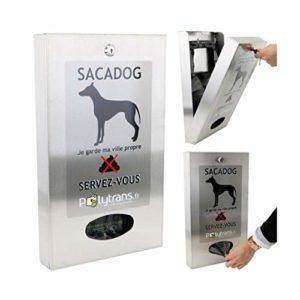 P2D Distributeur INOX de sachets pour déjections Canine Sacadog ™