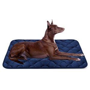 Panier Doux pour Chien, Lit Coussin de Luxe et Durable 107×70 cm, Tapis Antidérapant et Lavable de Chien Hero Dog (Bleu, Grande Taille)