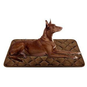 Panier Doux pour Chien, Lit Coussin de Luxe et Durable 107×70 cm, Tapis Antidérapant et Lavable de Chien Hero Dog (Brun, Grande Taille)