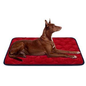 Panier Doux pour Chien, Lit Coussin de Luxe et Durable 107×70 cm, Tapis Antidérapant et Lavable de Chien Hero Dog (Rouge, Grande Taille)
