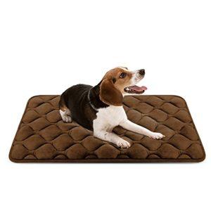Panier Doux pour Chien, Lit Coussin de Luxe et Durable 90×60 cm, Tapis Antidérapant et Lavable de Chien Hero Dog (Brun, Moyenne Taille)