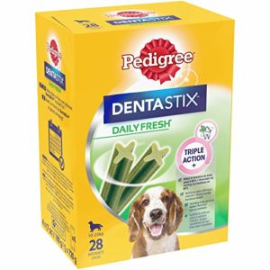 Pedigree Dentastix Fresh – Friandises pour Moyen Chien, Lot de 4 (4 x 28 = 112 Bâtonnets à Mâcher en totale)