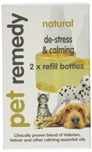 Pet Remedy Animal domestique Remède naturel Relaxation et calmant recharge Lot, 40ml, Lot de 2