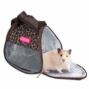 Pssopp Sac de Transport Respirant pour Hamster, Cochon d'Inde, hérisson, Voyage – pour Rat, Chinchilla, Furet, Cochon d'Inde