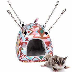 Rat Hamster Maison Lit Hamac Suspendu Jouet Hut Hiver Chaud Petit Animal Écureuil Hérisson Chinchilla Maison Cage Nid