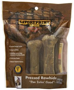 Savory Prime Pressed Bone All Natural Dog Chewable Healthy Pet Treat 4.5in 6Pack