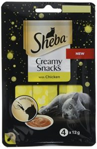 Sheba Creamy Snacks Friandises pour chat 20 x ( 4x12g )